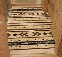 洗面室の床マット、床にあわせて切る